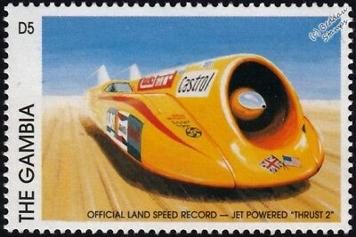 THRUST 2 (Thrust2) World Land Speed Record (WLSR) Car Stamp (1997 Gambia)