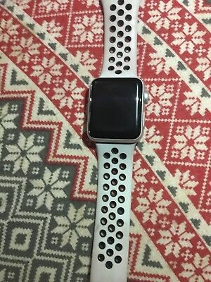 131cdcc59c861 Apple Watch Nike+ 38mm Silver Aluminium Case with Pure Platinum Black Nike  Sport