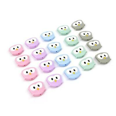 Lovely Baby Silicone Owl Safety Baby Toddler Teether Chew Toy LC