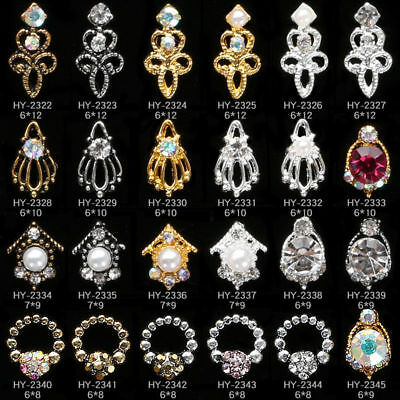 Women Charm 3D Nail Art Tips Crystal Rhinestones DIY Glitters Jewelry Decoration