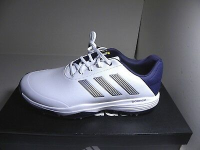 4c848f0c1440 Adidas Adipower Bounce Golf Shoes F33575 White   Navy - Size 12 M NEW