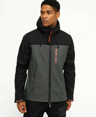 bf3d8433551 New Mens Superdry Hooded Mountain Marker Jacket Black