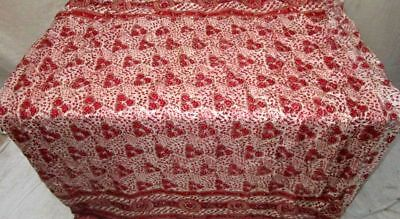 Red Coffee Pure Silk 4 yard Vintage Sari Saree Piece exclusive seller NR #9DGW2