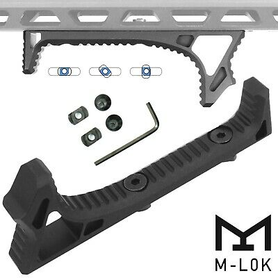 Curved Angled Foregrip Front Grip Fits M-Lok Handguard Rails All Metal Black