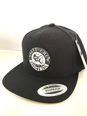 new products f68ee 2921d New SALTY CREW Streamer 6 Panel Men s CAP HAT black One Size Adjustable ZY13