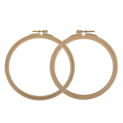 2pcs Wooden Cross Stitch Machine Embroidery Hoop Ring Sewing Tools 15/18cm