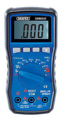 Draper 41821 Automotive Digital Multimeter Lcd Screen Test Leads & Case