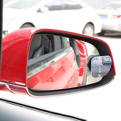 2x Stick-on Blind Spot Mirror Car Auto Rearview Convex Adjustable Side Mirrors