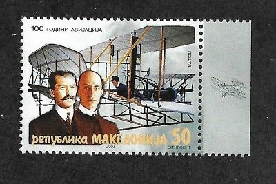 MACEDONIA Sc 293 NH issue of 2003 - Aviation