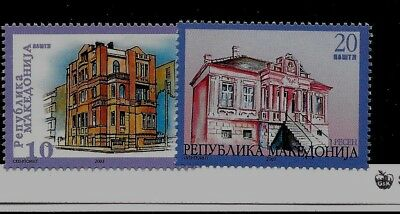 MACEDONIA Sc 267-8 NH issue of 2003 - Buildings