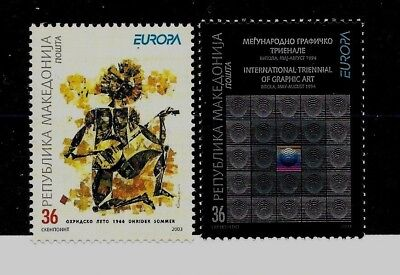 MACEDONIA Sc 264-5 NH issue of 2002 - EUROPA