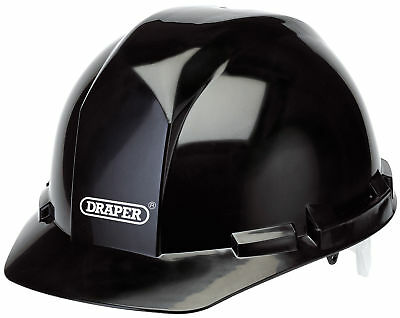 Draper Black Safety Helmet To En397 High Density Polyethylene Shell - 65706