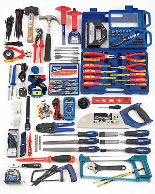 Draper Electricians Pliers/Hammer/Crimping/Soldering Work Tool Kit - 89756