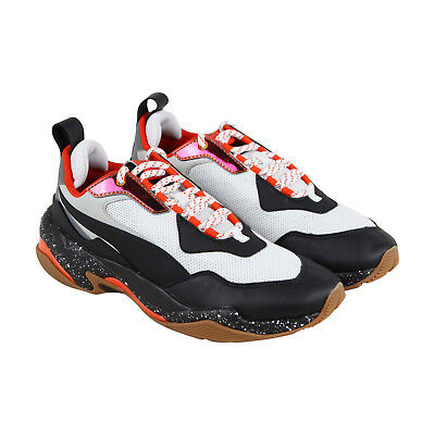 4776fd3f5ab Puma Thunder Electric Mens White Mesh   Leather Athletic Running Shoes