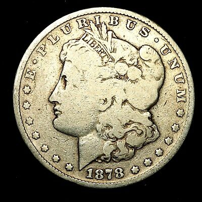 1878 S ~**1ST YEAR ISSUE**~ Silver Morgan Dollar Rare US Old Antique Coin! #968