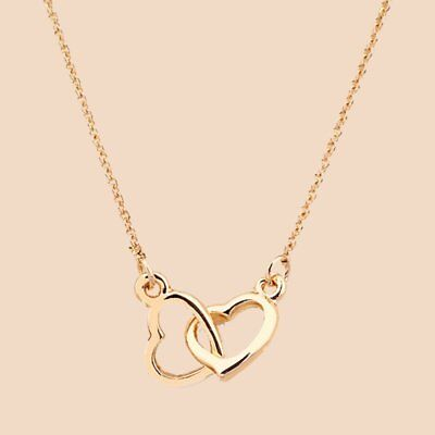 Hollow Gold Plated Heart Pendant Bib Chain Necklace Choker Charm Women Jewelry