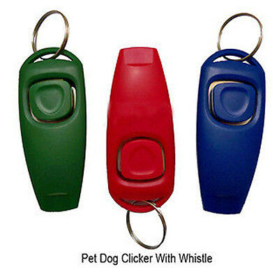 Pop Dog Clicker&Whistle-Training,Obedience,Pet Trainer Click Puppy With Guide