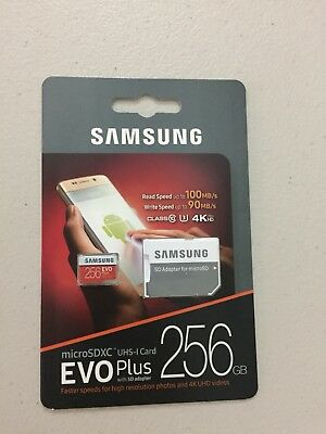New Genuine Sealed Samsung Evo Plus 256GB  Micro SD Card Class 10 SDXC Memory