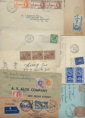 BRITISH COMMONWEALTH 1930s 1950s LARGE COLLECTION OF 20 COMMERCIAL COVER FRANKED