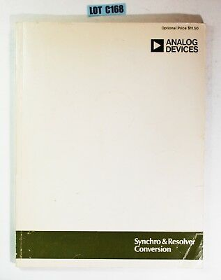 Analog Devices Synchro & Resolver Conversion Guide 1980 DATA BOOK LOT C168