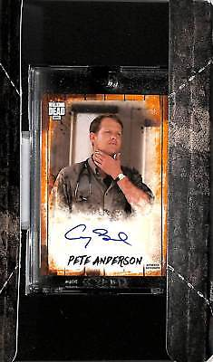 2018 Topps Walking Dead Autograph Collection Corey Brill as Pete Anderson 42/50