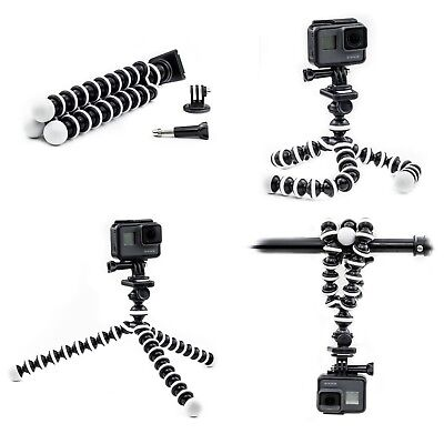 Flexible Trépied Support pour Olympus Tg-Tracker Nikon Clé Mission 80 Action Cam