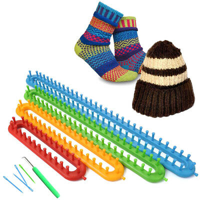 Knitting Loom  Long Ring Knitter Set Of 4 Craft Set For Sock Scarf Hat Sweater