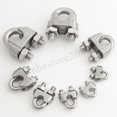 M3-M10 Wire Rope Cable Clip 304 Stainless Steel U Clamp Ring Accessories 9