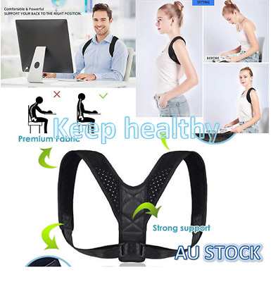 Posture Corrector Adjustable Therapy Clavicle Back Support Brace Belt Men Women