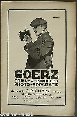 Goerz Trieder Binocle,Photo Apparate,Fernglas,Berlin Friedenau,orig.Anzeige 1911