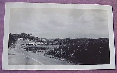 1940's Wailuku Maui Road Scene (2) WWII Era TH Hawaii