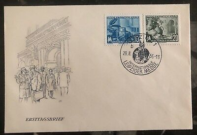 1955 Leipzig East Germany DDR FDC First Day Cover International Fair