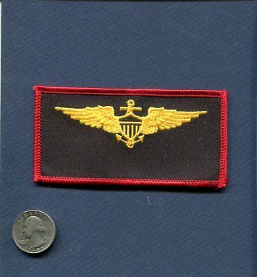 US NAVY USMC MARINE CORPS Naval Aviator Gold Wings Squadron Name Tag Patch
