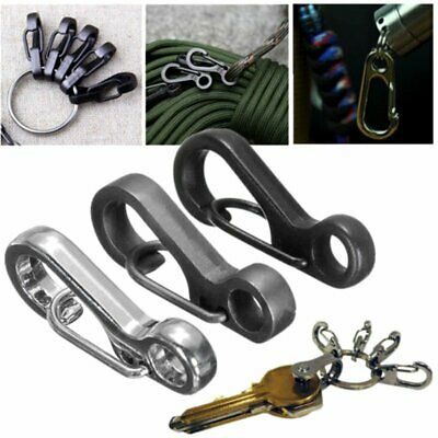 10X EDC Trigger Key Ring Split Keychain Clasps Clip Snap Sruvival Hook Carabiner