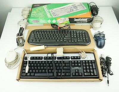 Lot of Computer Keyboards, Vintage Computer Mice and Other Misc Cords