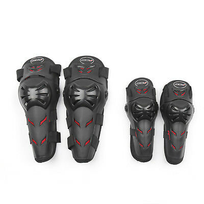 Motorcycle Motocross Elbow Knee Shin Protector PE Shells Guard Armor Pads