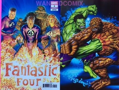 Fantastic Four #1 Greg Horn Store Variant Cover & Alex Ross 1:50 Comic Book Set
