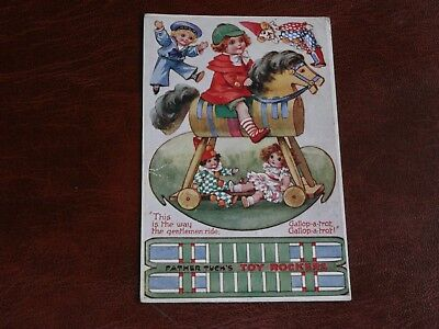 ORIGINAL TUCK NOVELTY CUT OUT POSTCARD - FATHER TUCK'S TOY ROCKERS, No. 3399.