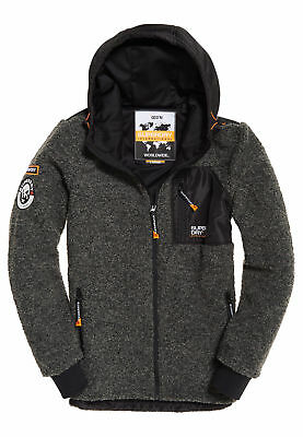Men's Superdry Zip Full Marl Grey Sherpa Dark Mountain eE2DWHIb9Y
