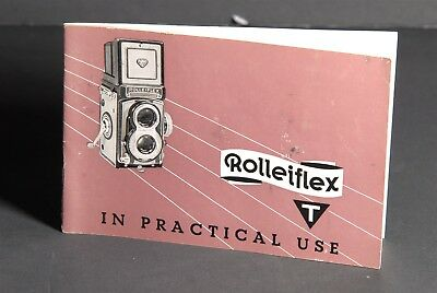 Rollei Rolleiflex T In Practical Use 1962 Camera Instruction Book / Guide #2