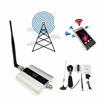 GSM 900MHz Mobile Cell Phone Signal Repeater Alloy LCD Booster DC5V/1A EU PLDXQ