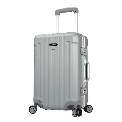 "20"" ""Seattle"" Aluminum Frame TSA Lock 8-Wheel Carry-On Silver 20"""
