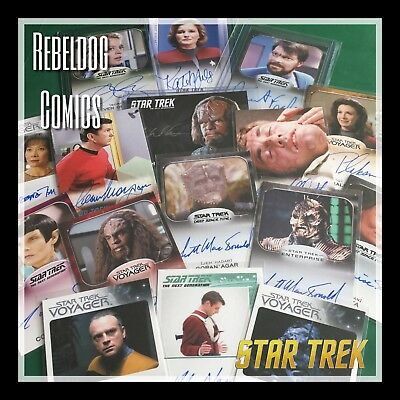 STAR TREK TRADING CARD BLIND BOX 6 PACKS Plus 1 AUTOGRAPH from Hobby Boxes