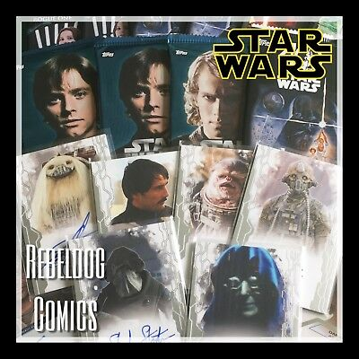 STAR WARS TRADING CARD BLIND BOX 6 PACKS Plus 1 AUTOGRAPH from Hobby Boxes
