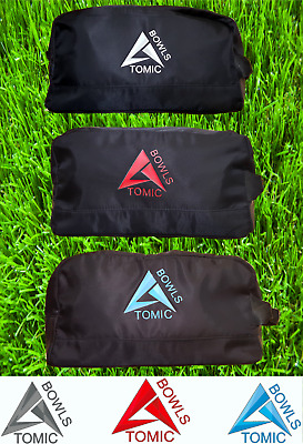 Atomic Bowls Lawn Bowls 2 Bowl Bag Carrier With Zip Top & Carry Handle New Line