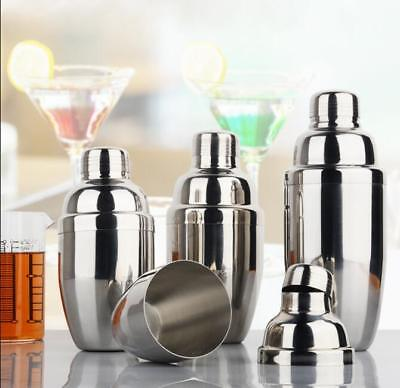 Stainless Steel Cocktail Shaker Mixer Drink Bartender Martini Tools Bar Pub Wine