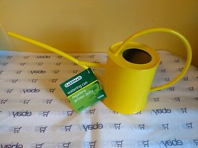 Wonderful Classic Shape Galvanized Metal Watering Can, 1/2 Gallon, New Yellow