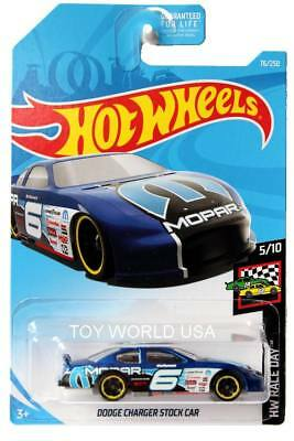2019 Hot Wheels Car Dodge Charger Stock Car 76 250 Blue Pearl