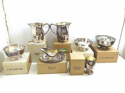 7 Sheridan / Paul Revere Silver Plate Trap Shooting Awards Bowls Pitchers Brandy