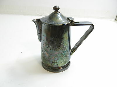 """Vintage Hershey Country Club Hcc Heavy Silver Plated Creamer / Pitcher 6 1/2"""""""